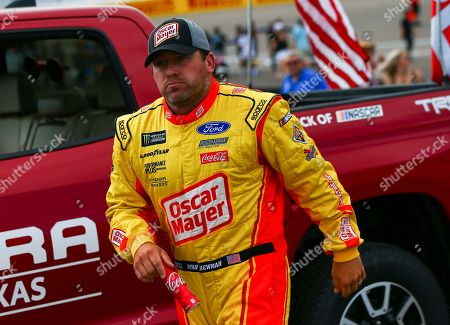 Stock Photo of Ryan Newman walks to his car before a NASCAR Cup Series auto race at the Las Vegas Motor Speedway on
