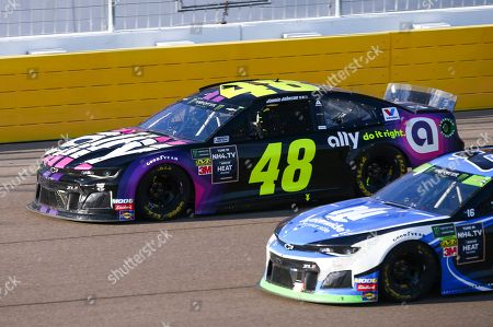 Stock Picture of Jimmie Johnson (48) drives during a NASCAR Cup Series auto race at the Las Vegas Motor Speedway on