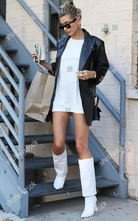 Editorial image of Hailey Bieber out and about, Beverly Hills, Los Angeles, USA - 17 Sep 2019