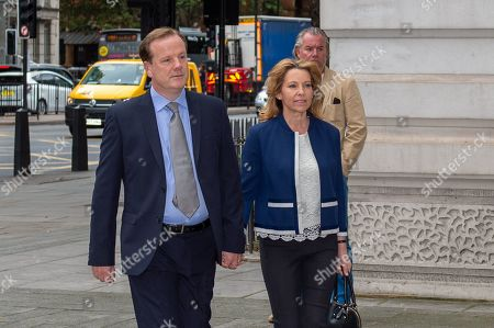 Tory MP Charlie Elphicke arrives at Westminister Magistrates' Court to face sexual assault allegations.