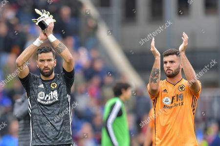 Stock Picture of Rui Patricio goalkeeper of Wolverhampton Wanderers and Patrick Cutrone of Wolverhampton Wanderers applaud fans