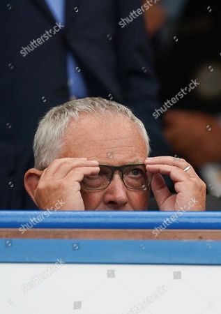Former Executive Chairman of the Premier League Richard Scudamore in the stands at Stamford Bridge