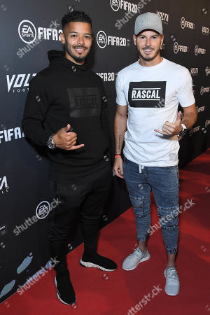 Stock Picture of Jeremy Lynch and Billy Wingrove at the EA SPORTS FIFA 20 World Premiere. FIFA 20 is available from September 27th.