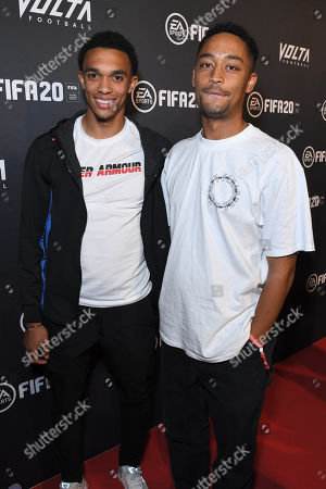 Trent Alexander-Arnold and Loyle Carner at the EA SPORTS FIFA 20 World Premiere. FIFA 20 is available from September 27th.