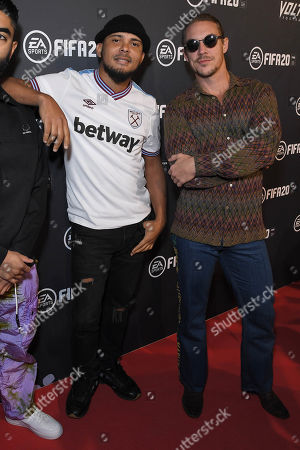 Stock Image of Diplo and Walshy Fire of Major Lazer at the EA SPORTS FIFA 20 World Premiere. FIFA 20 is available from September 27th.