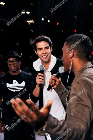 Ian Wright and Kaka are interviewed by Harry Pinero as players from across 15 cities compete in a 5-a-side football tournament at the EA SPORTS FIFA 20 World Premiere. FIFA 20 is available from September 27th
