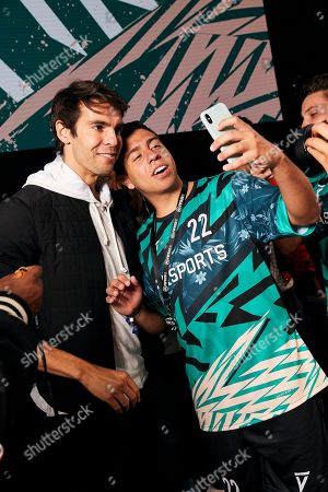 Kaka poses for a selfie with a winner as players from across 15 cities compete in a 5-a-side football tournament at the EA SPORTS FIFA 20 World Premiere. FIFA 20 is available from September 27th