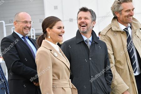 Stock Picture of Sweden's Crown Princess Victoria and Denmark's Crown Prince Frederik visit the Amager Slope or Copenhill, which is a combined heat and power waste-to-energy plant in Amager