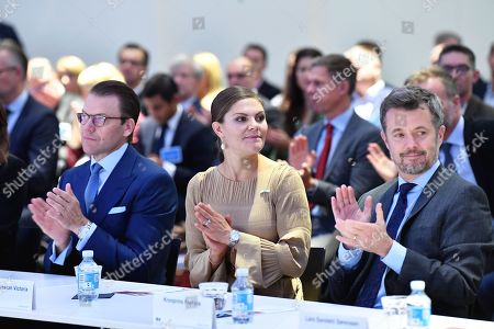 Sweden's Crown Princess Victoria and Prince Daniel and Denmark's Crown Prince Frederik during a Swedish-Danish business forum