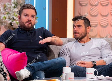 Alex Brooker and swimming coach Ross Edgley