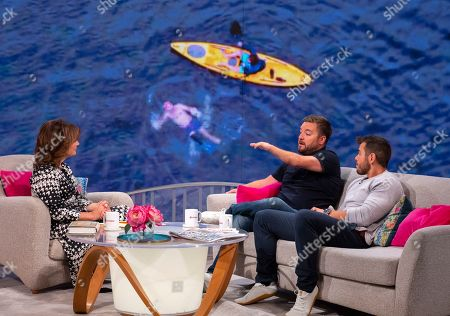 Lorraine Kelly, Alex Brooker and swimming coach Ross Edgley