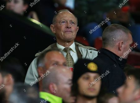 Sir Geoffrey Boycott looks on from the stand