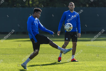 Stock Picture of Basel's Eric Ramires during a training session the day before the UEFA Europa League group C matchday 1 soccer match between Switzerland's FC Basel 1893 and Russia's FC Krasnodar in the St. Jakob training area in Basel, Switzerland, 18 September 2019.