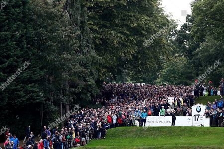 Danny Willett of England on the 17th hole.