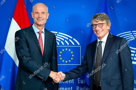 David Sassoli - European Parliament President meets with Stef Blok - Dutch Minister for Foreign Affairs