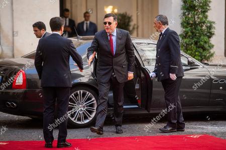 Editorial photo of Italian Prime Minister Giuseppe Conte meets Libya's UN-recognised Prime Minister Fayez al-Sarraj, Rome, Italy - 18 Sep 2019