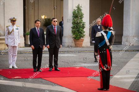 Editorial picture of Italian Prime Minister Giuseppe Conte meets Libya's UN-recognised Prime Minister Fayez al-Sarraj, Rome, Italy - 18 Sep 2019
