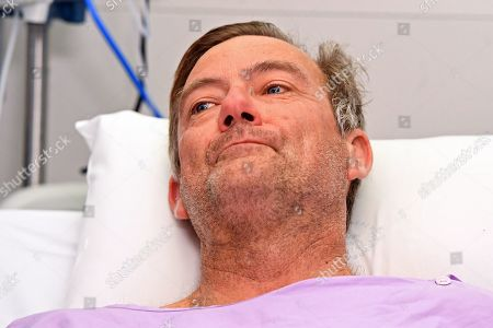 Bushwalker Neil Parker at Princess Alexandra Hospital in Brisbane, Australia, 18 September 2019. Neil Parker, 54, fractured his leg and wrist in the six-metre fall on Sunday while walking by himself in Cabbage Tree Creek on Mt Nebo, northwest of Brisbane.