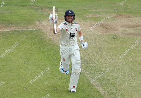 Stock Picture of Kent's Sam Billings celebrates scoring a century