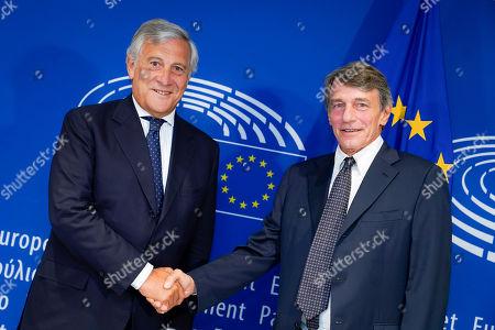 David Sassoli - European Parliament President meets with Antonio Tajani
