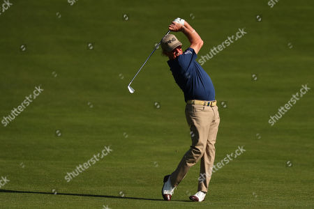 VIRGINIA WATER, ENGLAND. 19 SEPTEMBER 2019: Miguel Angel Jimenez competing in round one of the BMW PGA Championship, European Tour Golf Tournament at Wentworth Golf Club, Virginia Water, Surrey, England.