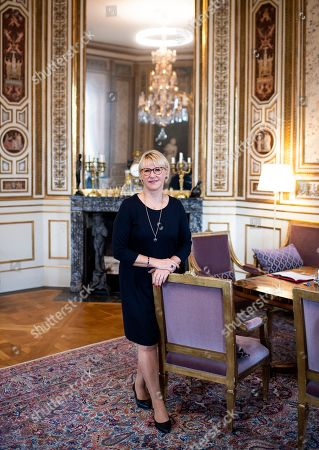 Sweden's Foreign Minister Margot Wallstrom photographed in her office at the Ministry for Foreign Affairs