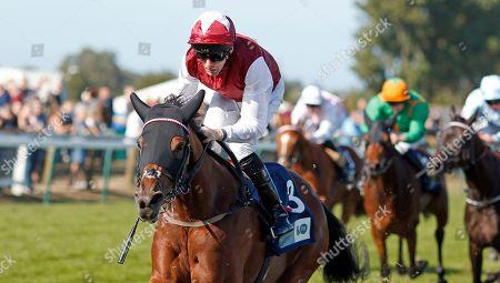 FANNY LOGAN (Robert Havlin) wins The EBF Stallions John Musker Fillies Stakes Yarmouth