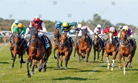 Stock Image of FANNY LOGAN (Robert Havlin) wins The EBF Stallions John Musker Fillies Stakes Yarmouth
