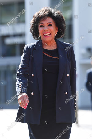 Stock Picture of Dame Shirley Bassey unveils her handprints in the 'Square of Fame' at the SSE Wembley Arena