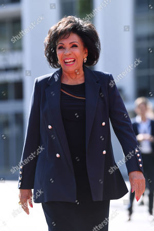 Dame Shirley Bassey unveils her handprints in the 'Square of Fame' at the SSE Wembley Arena