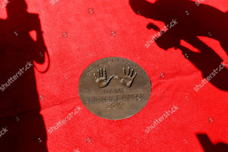 Dame Shirley Bassey's handprints in the 'Square of Fame' at the SSE Wembley Arena