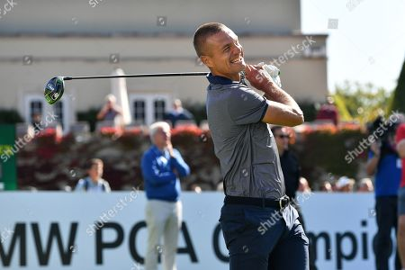 Stock Picture of Former Manchester United defender Nemanja Vidic during the BMW PGA Championship at Wentworth Club, Virginia Water