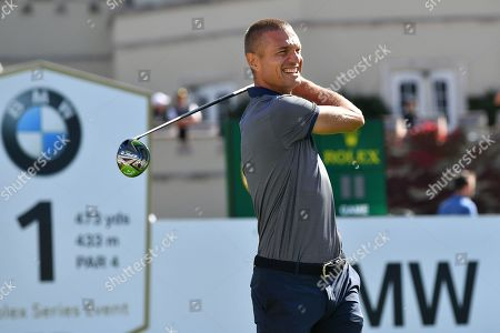 Former Manchester United defender Nemanja Vidic during the BMW PGA Championship at Wentworth Club, Virginia Water