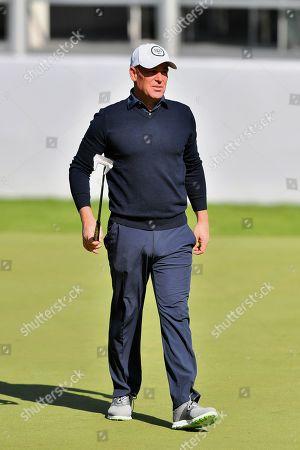 Australian cricket legend Shane Warne during the BMW PGA Championship at Wentworth Club, Virginia Water