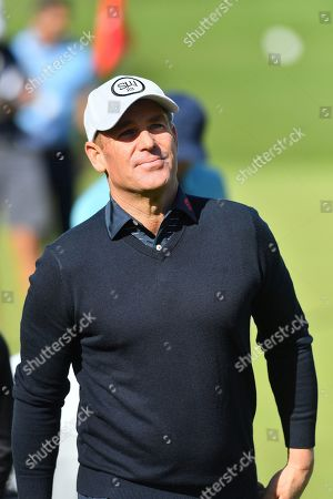 Stock Picture of Australian cricket legend Shane Warne during the BMW PGA Championship at Wentworth Club, Virginia Water