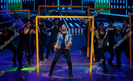 Bollywood actor Vicky Kaushal performs during the 20th International Indian Film Academy (IIFA) awards ceremony in Mumbai, India