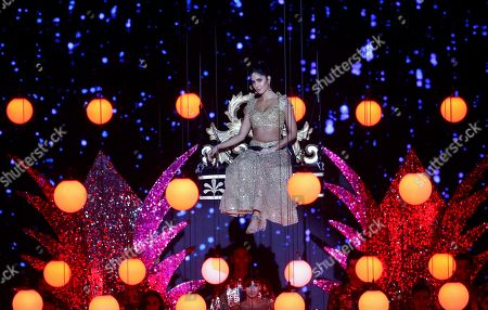 Bollywood actress Katrina Kaif performs during the 20th International Indian Film Academy (IIFA) awards ceremony in Mumbai, India
