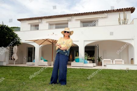 Daniele Thompson, Monegasque film director and daughter of French film director Gerard Oury, poses in front of her house 'Villa Les Oliviers' in Saint-Tropez, France, 18 September 2019. Daniele Thompson sells her house 'Villa Les Oliviers' and the furniture will be sold separately at auction on 05 October 2019.