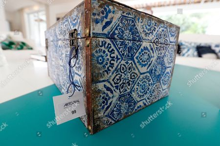A view of a decorated box of Daniele Thompson, Monegasque film director and daughter of French film director Gerard Oury, in her house 'Villa Les Oliviers' in Saint-Tropez, France, 18 September 2019. Daniele Thompson sells her house 'Villa Les Oliviers' and the furniture will be sold separately at auction on 05 October 2019.