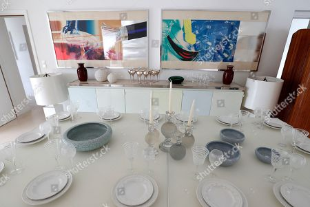 Belongings of Daniele Thompson, Monegasque film director and daughter of French film director Gerard Oury, are on display in her house 'Villa Les Oliviers' in Saint-Tropez, France, 18 September 2019. Daniele Thompson sells her house 'Villa Les Oliviers' and the furniture will be sold separately at auction on 05 October 2019.