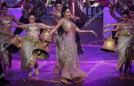 Stock Photo of Katrina Kaif performs during the 20th International Indian Film Academy (IIFA) awards ceremony in Mumbai, India, 18 September 2019. The IIFA awards are prizes presented by the International Indian Film Academy every year to honour artistic and technical excellence of professionals in Bollywood.