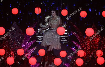 Katrina Kaif performs during the 20th International Indian Film Academy (IIFA) awards ceremony in Mumbai, India, 18 September 2019. The IIFA awards are prizes presented by the International Indian Film Academy every year to honour artistic and technical excellence of professionals in Bollywood.