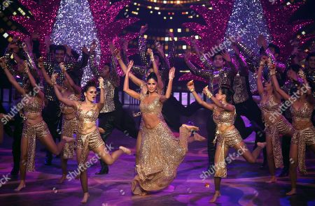 Stock Image of Katrina Kaif performs during the 20th International Indian Film Academy (IIFA) awards ceremony in Mumbai, India, 18 September 2019. The IIFA awards are prizes presented by the International Indian Film Academy every year to honour artistic and technical excellence of professionals in Bollywood.
