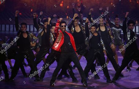 Vicky Kaushal performs during the 20th International Indian Film Academy (IIFA) awards ceremony in Mumbai, India, 18 September 2019. The IIFA awards are prizes presented by the International Indian Film Academy every year to honour artistic and technical excellence of professionals in Bollywood.