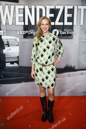 Stock Photo of Petra Schmidt-Schaller poses during a photocall for the premiere of the movie 'Wendezeit' (Turning Point) in Berlin, Germany, 18 September 2019. The movie Wendezeit screens on 02 October 2019 in German television station ARD on occasion of the anniversary of the fall of the Berlin wall 30 years ago.