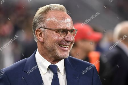Bayern Munich's chairman of the board Karl-Heinz Rummenigge ahead of the UEFA Champions League group B soccer match between Bayern Munich and Red Star Belgrade in Munich, Germany, 18 September 2019.