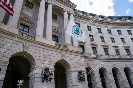 The headquarters of the Environmental Protection Agency in Washington as President Donald Trump announces that his administration is revoking California's authority to set auto mileage standards stricter than those issued by federal regulators, . Critics say the move would result in less fuel efficient cars that create more planet-warming pollution