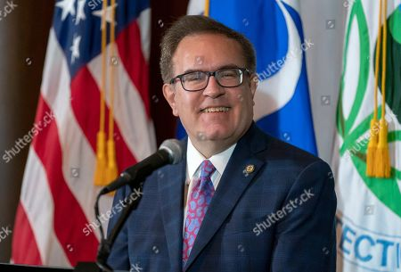 Environmental Protection Agency administrator Andrew Wheeler speaks about President Donald Trump's decision to revoke California's authority to set auto mileage standards stricter than those issued by federal regulators, at EPA headquarters in Washington