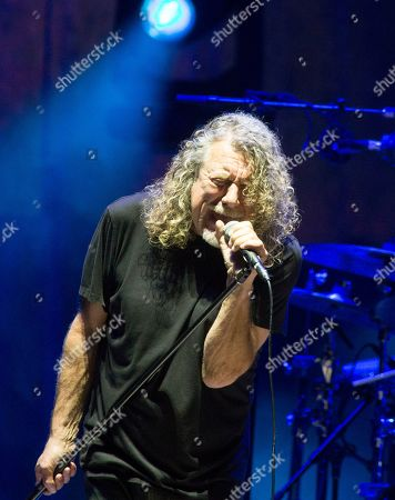 Robert Plant, formerly of the band Led Zeppelin, performs in concert with Robert Plant & The Sensational Space Shifters at TD Pavilion at the Mann, in Philadelphia