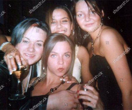 Stock Picture of Holly Clements and friends on a night out